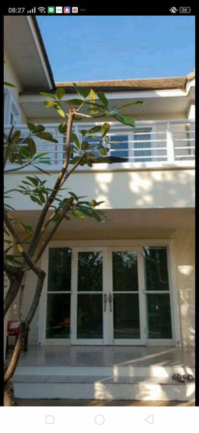 House for rent in Worabun Village, Sukhumvit 77 Road, from the entrance of Soi On Nut 44