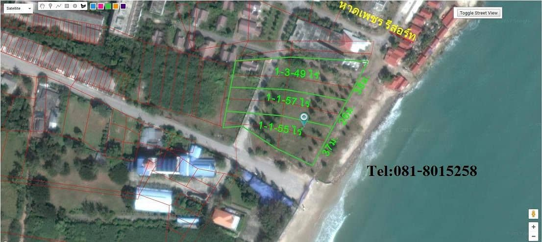 Land for sale in Puek Tian Beach, 4 rai, can be sold next to Phet Resort