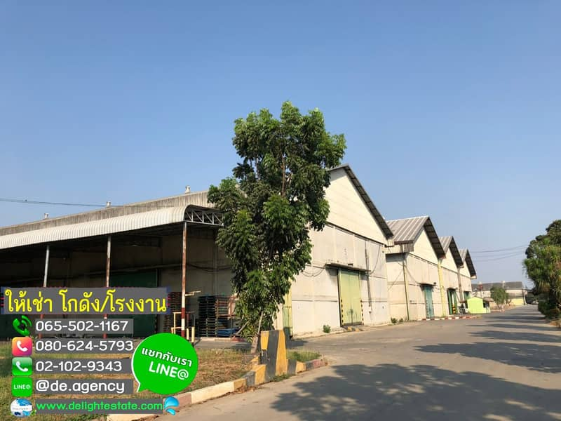 DE437 Warehouse for rent, warehouse 1,250 and 1750 sq m, Bang Kradi Industrial Estate. Pathumthani City