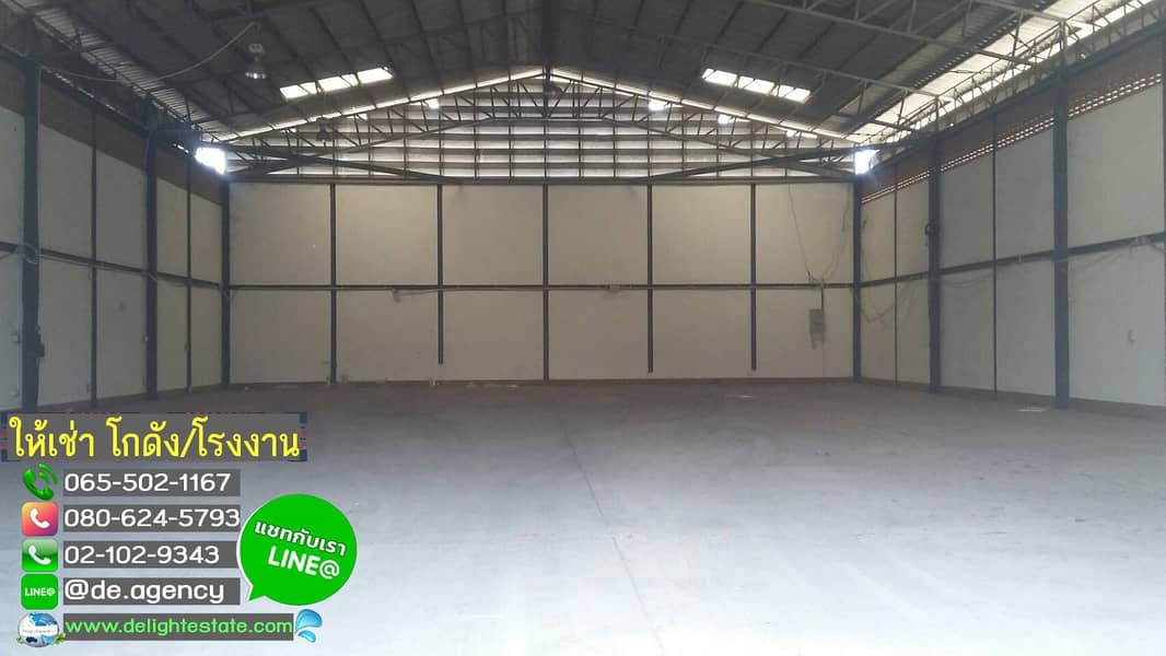 DE406 Warehouse for rent 550 880 2,000 sqm. On the main road near Bang Pa-in Industrial Estate, Ayutthaya