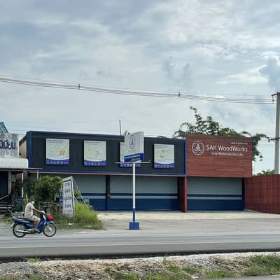 1 Bedroom Commercial Building for Sale in San Sai, Chiangmai - Sell 3 shophouses with land opposite Home Pro Sansai) near Seven