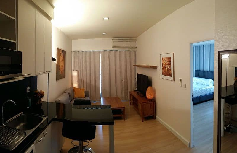 the SEED MINGLE 1 bedroom for rent Sathorn-Suanplu 46 sq m, 25 floor, pool and garden view.