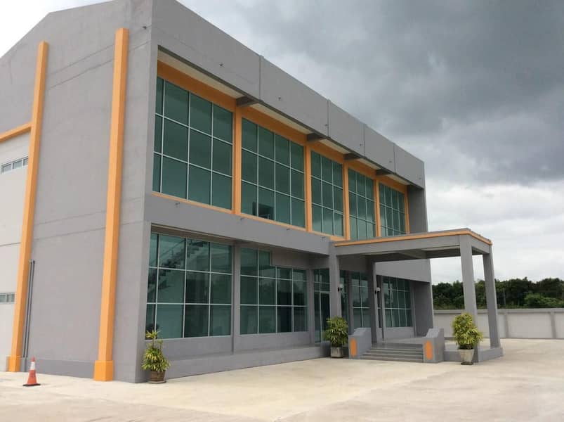 DE163 Warehouse, warehouse for rent, large with office, 1,200 square wa, Suvarnabhumi area.