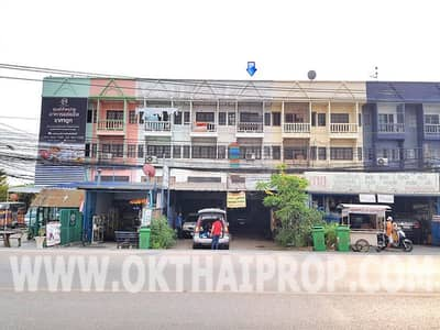 3.5-storey commercial building, Phimon Rat Village 1, Ban Kluai-Sai Noi Road, cheap for sale ""