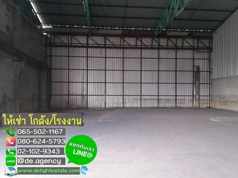 DE129 Warehouse for rent with office at the foot of Nuanchawi Bridge, good location on the main road