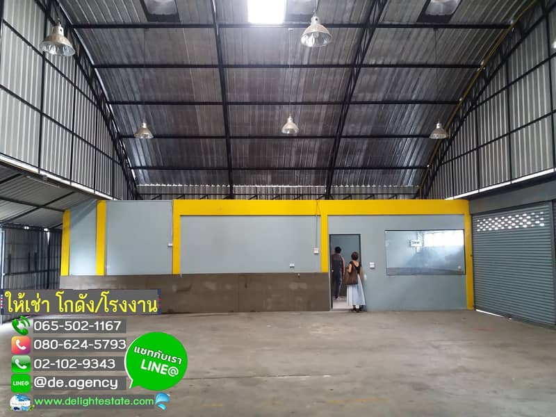 DE52 Warehouse for rent 240 sq m. With office in Lam Luk Ka district, Pathum Thani