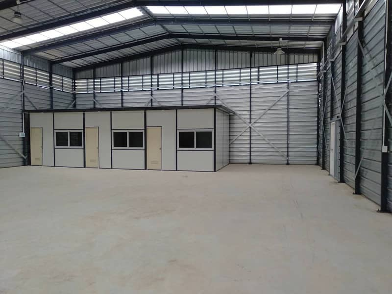 HR 15 Warehouse project for rent They range from 300-3,000 sq m. Price 100 baht per sq m.
