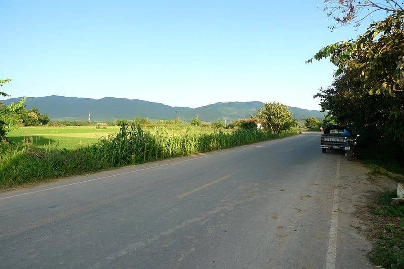 Land for sale on the highway 33 Rai Chiang Saen