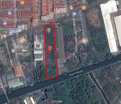Land for Rent in Nong Khaem, Bangkok - Land for rent along Phasi Charoen Canal, next to the canal road