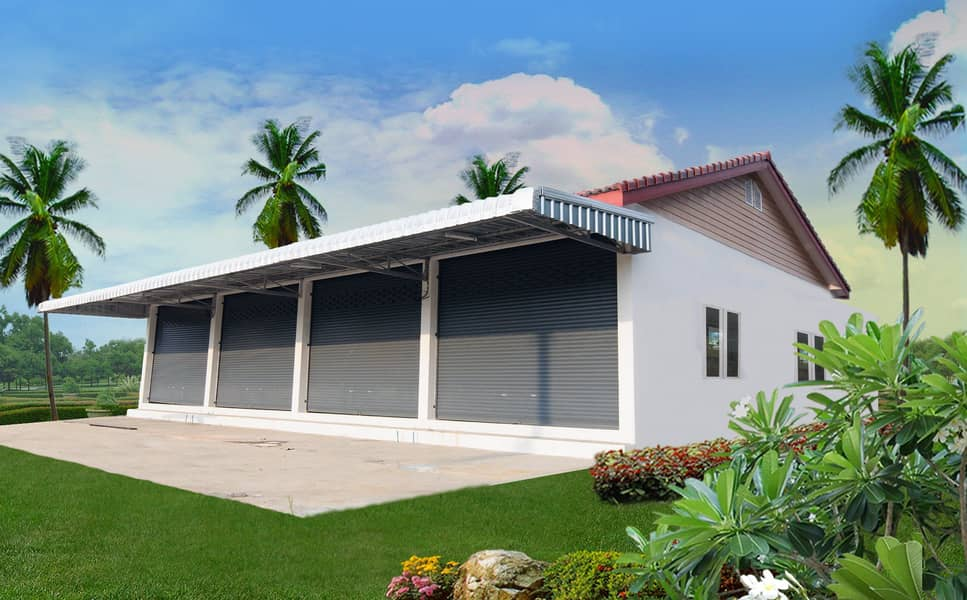 Single storey shophouses for commercial and residential purposes