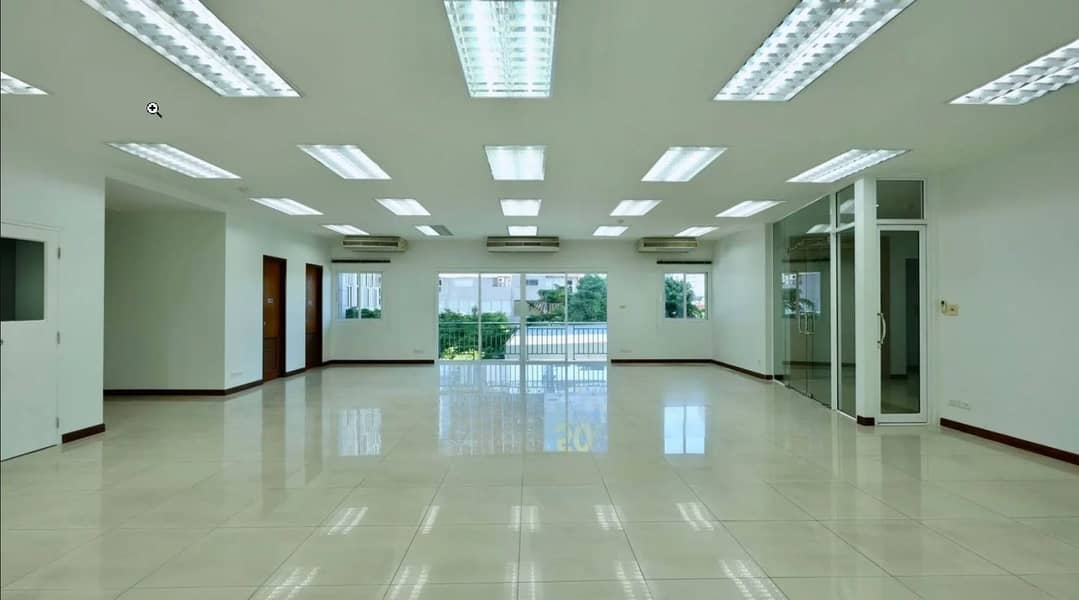 Office space for rent, Mobicom, Soi Narathiwas 7, size 200 sqm, renovated, BTS Chong Nonsi, BRT