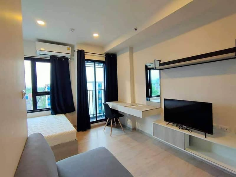 Fully furnished studio bedroom at Escent Ville Condo for rent / 7,000 Baht