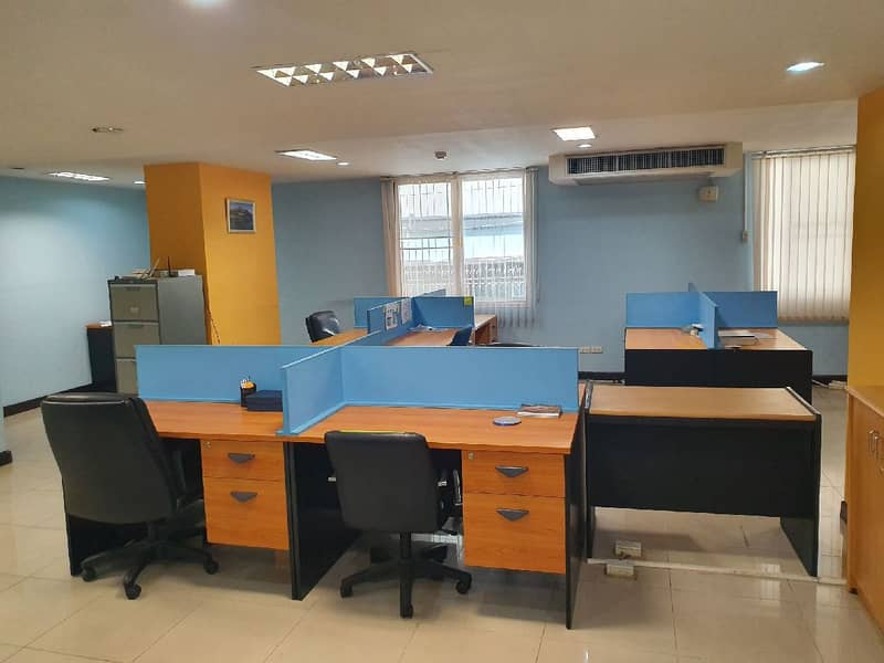 Sales-rent office 212 sqm 1st floor Pridi Banomyong 14 (Sukhumvit 71) with a lot of parking. With central Fully communal on the roof, garden, swimming pool, free fitness