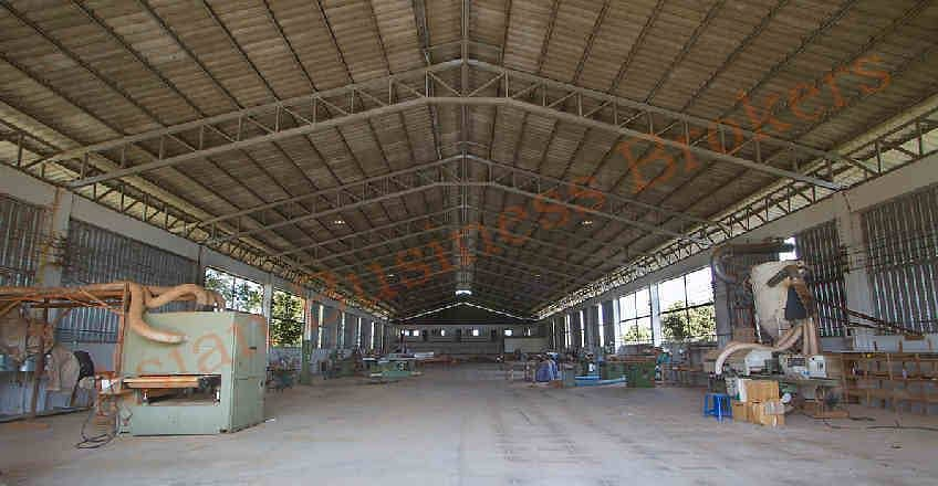 1012003 Factory for rent, area of almost 4 rai in the industrial zone in Chiang Mai