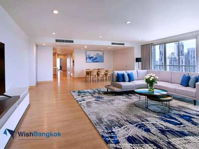 3 Bedroom Apartment for Rent in Pathum Wan, Bangkok - Pet Allowed unit For rent 3 bedroom unit size of 186 Sqm Panorama View decorate in modern boutique style  185K / Month