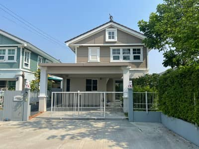3 Bedroom Home for Sale in Phutthamonthon, Nakhonpathom - House for sale, 3 bedrooms, 3 bathrooms, Villaggio, a village near the Borom Road and Mahidol University Salaya.