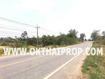 Land for Sale in Nong Bua Rawe, Chaiyaphum - Land on the road, Nong Bua Rawe District, Chaiyaphum Province.
