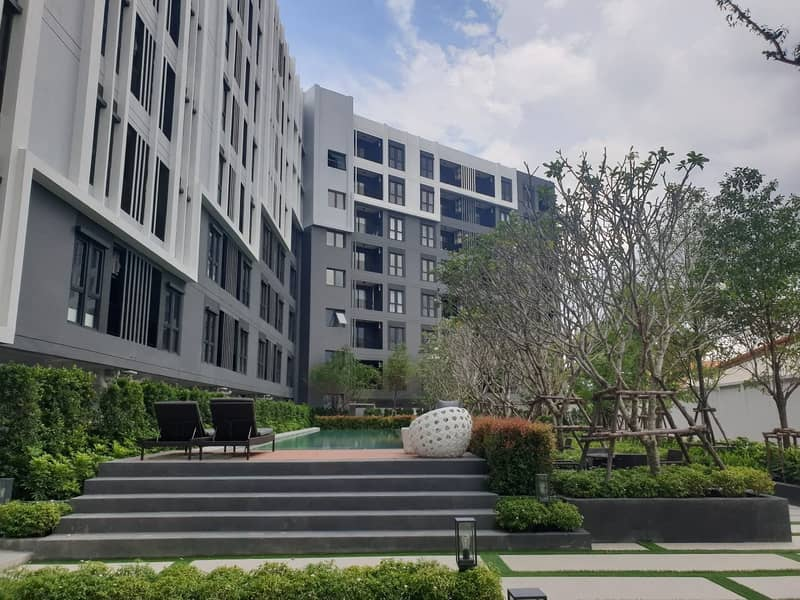 Condo for rent Asa Ayutthaya, 2nd floor, pool view, 1 year contract