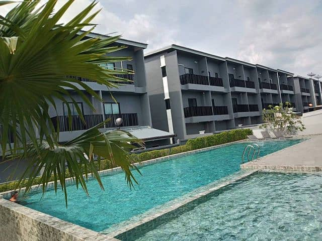 Houses in Krabi town There is a swimming pool, gym with furniture, Ao Nang Subdistrict, Krabi Province.