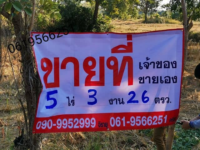 Land for sale in Bua Yai District, Nakhon Ratchasima