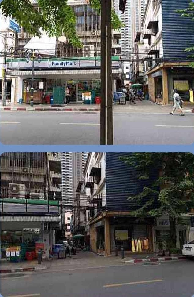 Urgent sale, Silom 4 storey building, Pan Road, near the temple, good location, can be a residence.