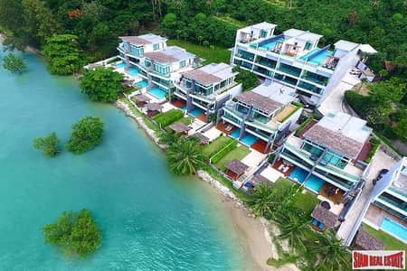 3 Bedroom Home for Rent in Mueang Phuket, Phuket - Eva Beach | Beachfront Pool Villa with Three Bedrooms for Rent Minutes from Rawai Beach