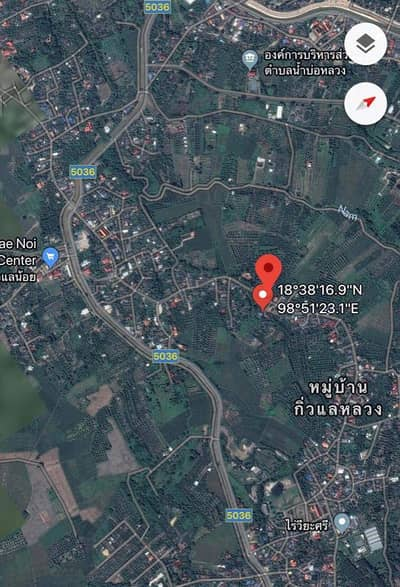 Land for Sale in San Pa Tong, Chiangmai - Land filled with garden