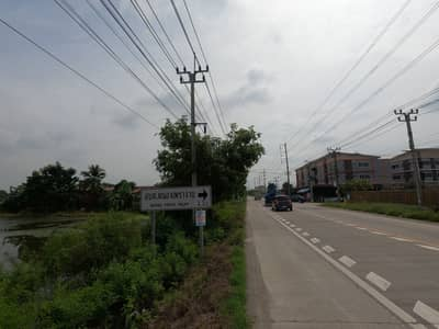 Land for Sale in Sai Noi, Nonthaburi - Beautiful land on the road Located at Nong Phet Chai Noi, Nonthaburi, divided into 7 rai and 12 years.