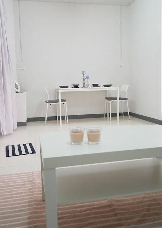 Apartment for rent, Baan Eua Arthorn project, Mae Klong, Samut Songkhram, fully furnished, next to Big C