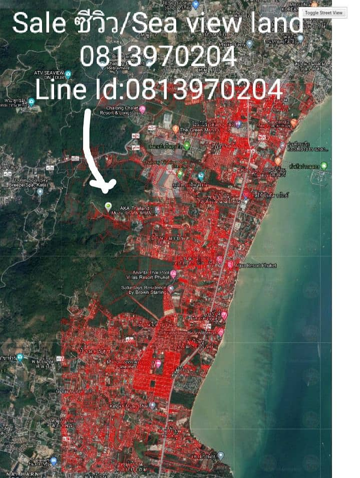 Sea view land for sale 7.5 million per rai 3-1-37 rai for a total of 25 million title deeds ready to transfer in Rawai, Muang Phuket, suitable for a sea view resort. Really interested, can talk price