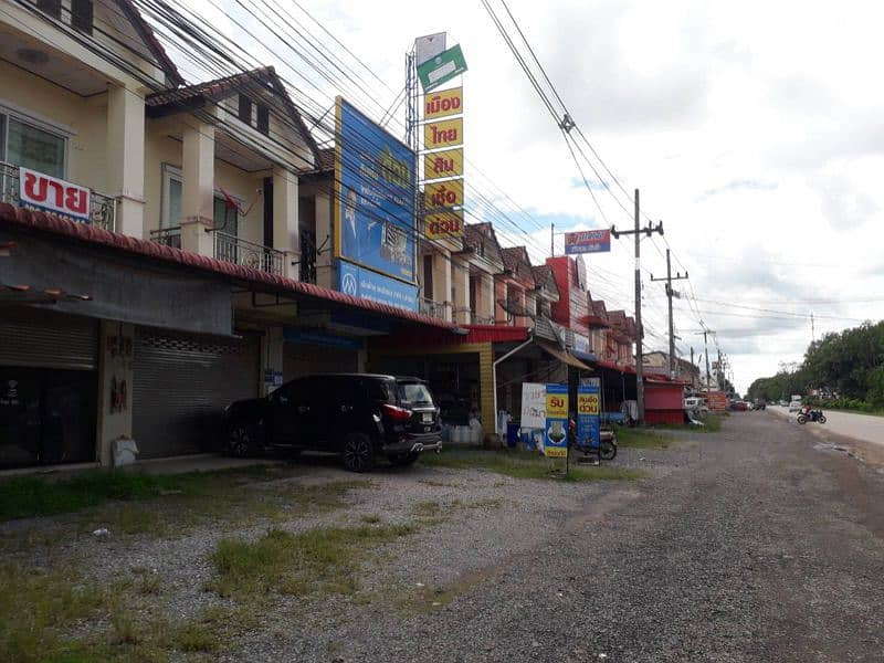 2-storey building in front of the road, commercial or residential location, Ratsada, Trang