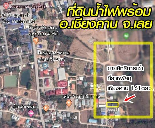 Sale of leasehold rights at Chiang Khan, beautiful, good location, suitable for housing