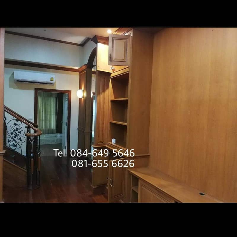 3-storey townhome for sale, half furnished