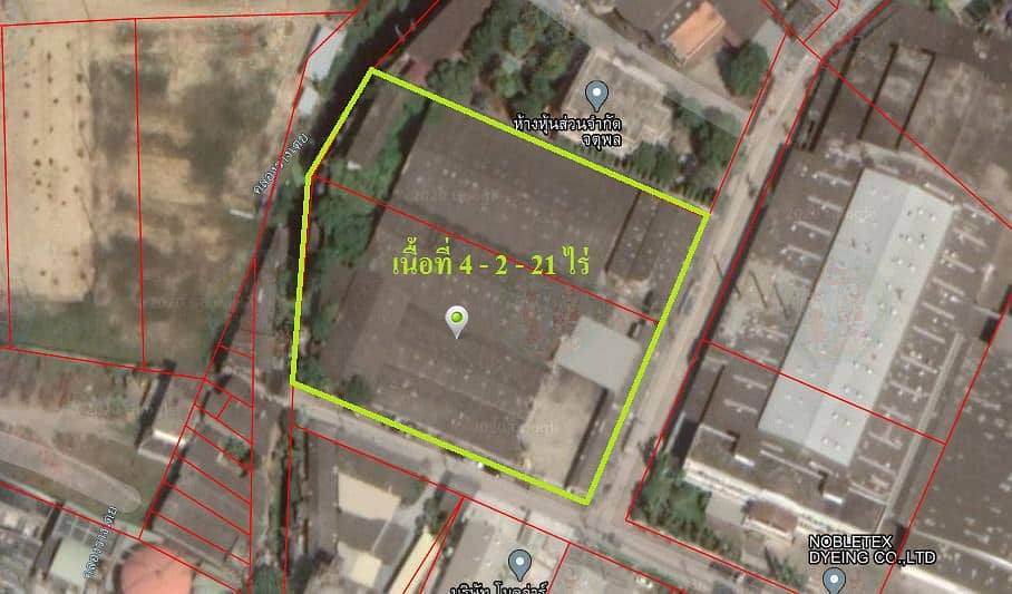 Land for sale with factory and warehouse Om Yai