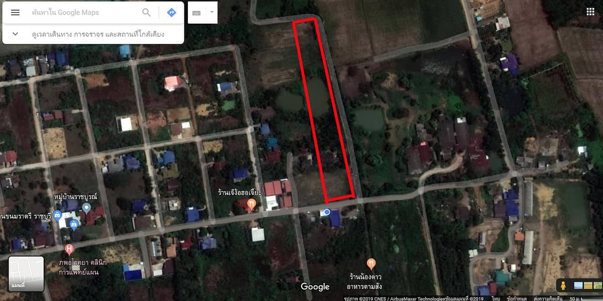 (Get a discount. Welcome broker) Land for sale 5 rai 2 ngan, Muang Ratchaburi There is a title deed ready to transfer.