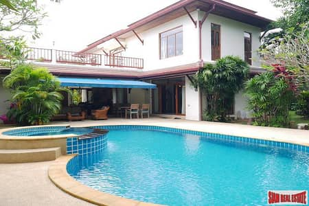 4 Bedroom Home for Sale in Mueang Phuket, Phuket - Baan Prangthong   Beautiful Two Storey House with Pool and Macca Wood Floors for Sale in Chalong