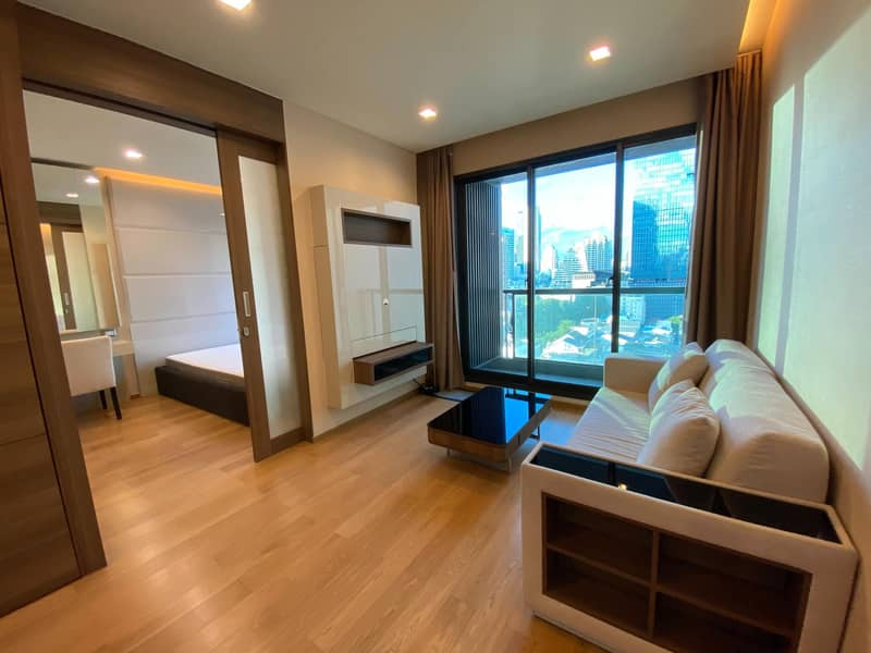 M3710-Condo for rent, The Address Sathorn, near BTS St. Louis, fully furnished, ready to move in.