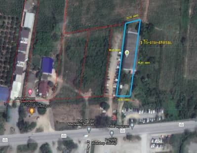 Factory for Sale in Sattahip, Chonburi - Land for sale with factory warehouse  Prime location, next to Route 332, Chonburi, Sattahip