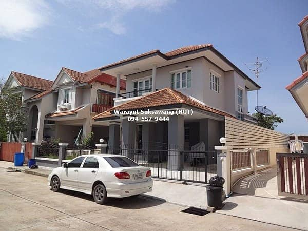 Single house, Wararom Village, Prachauthit, area 55.6 sq m, 3 bedrooms, fully loaned