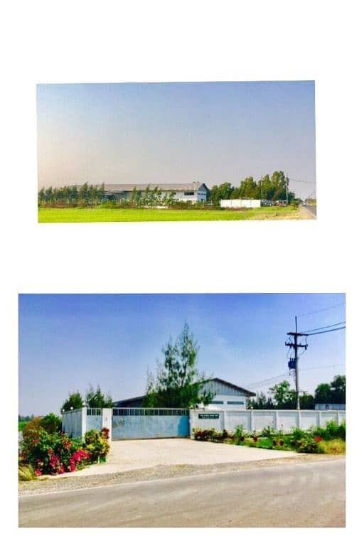 Factory for sale with land in Khlong Udom Subdistrict, Mueang District, Chachoengsao Province, wants to sell a factory with Ror. 4 With a total of 23 rai of land