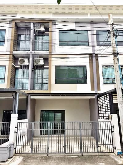 3 Bedroom Townhouse for Sale in Lak Si, Bangkok - For Sale - Townhouse Patio Ngamwongwan 47 Thung Song Hong Lak Si Townhouse 3 quiet, clean, good atmosphere.