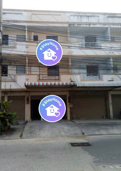 4 Bedroom Commercial Building for Rent in Bang Lamung, Chonburi - Sell, rent, get a broker, 3-storey commercial building, Pattaya, along Soi Siam, before leaving Sukhumvit Road near the train