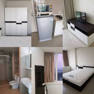 Condo for rent tc green Rama 9 room 38 sqm. 1 bedroom 1 living room fully furnished CONDO TC GREEN RAMA 9 FOR RENT 38 SQM.