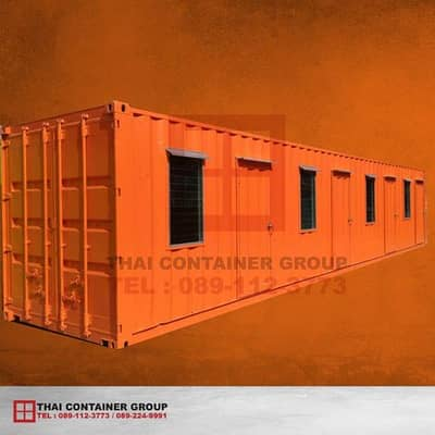 Container house for 40 feet of workers separating 4 rooms