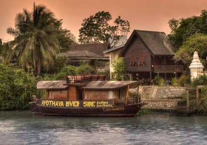 Hotel for Sale in Phra Nakhon Si Ayutthaya, Ayutthaya - Waterfront resort business, house and house boat