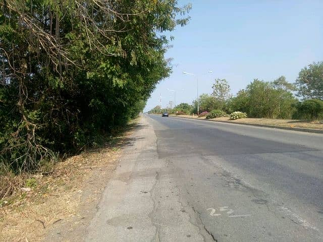 Land for sale 4 rai 2 ngan deed in front of Highway 21