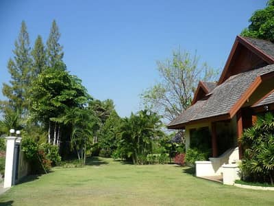 4 Bedroom Home for Rent in Saraphi, Chiangmai - House for rent in Chiang Mai, 2 rai 30 wa, 4 title deeds, 4 bedrooms, 5 bathrooms, 2 kitchens, 1 swimming pool, teak wood.