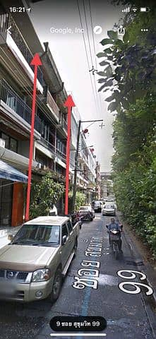 Selling commercial buildings, 2 booths, 3.5 floors, Sukhumvit 99 (according to the location)