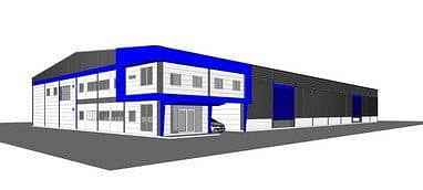Factory for sale, new warehouse, built near Nong Prue intersection, Ban Bueng District, Chonburi Province with an area of 3 to 4 rai