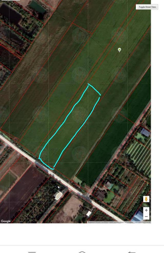 Beautiful land for sale on 2 sides of the road, size 3 rai